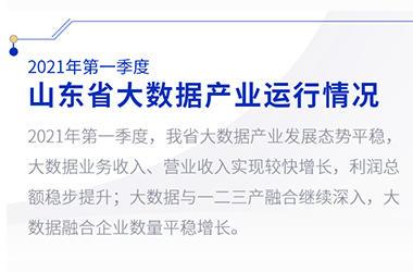 2021年第一季度山东省大数据产业运行情况